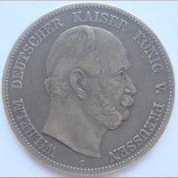Монета 5 марок Германия 1876 г