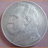 Монета 10 злотых 1935 г.