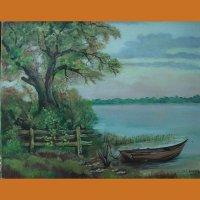 """Картина """"Лодка"""" L. Devalck"""