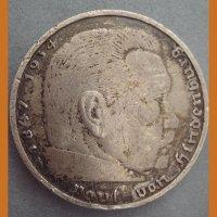 Монета 5 Reichs Mark 1938 год