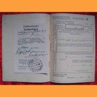 Немецкая сбер книжка+удостоверение личности+приложение к сбер книжке