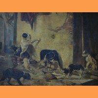 "Картина ""Собака несущая обед своему хозяину"""