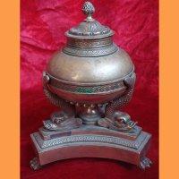 Чернильница бронзовая, XIX век