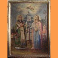Икона Феодосий Углицкий и Св. Великомученица Варвара