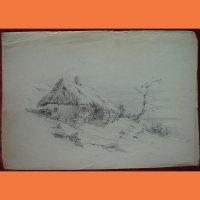Рисунок Стара хата Чернигова Г.Й Петраш