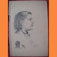 """Рисунок """"Портрет женщины"""" Г.Й Перташ"""