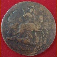 Монета 2 копейки 1758 года