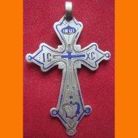 Крест нательный серебро 84 пробы