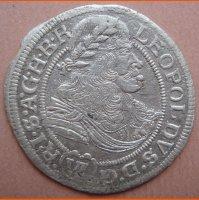 Монета Шестак 6 грошей 1673 г . Леопольд Австрия