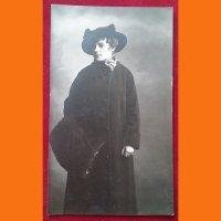 Открытка Девушка в шляпе