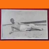 Открытка Мужчина на пляже