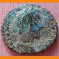 Римская монета Ас Антоний Пий 140 - 144 гг.