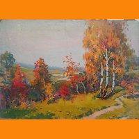 """Картина """"Осень"""" И.К. Горовой"""