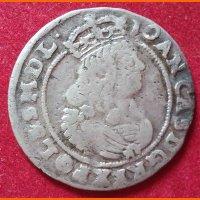 Монета 6 грош 1667 года