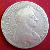 Монета 1/2 Кроны английская Карл II