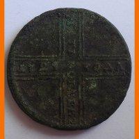 Монета 5 копеек 1729 года