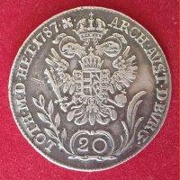 Монета 20 крейцеров 1787 год