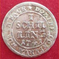 Монета 1 шиллинг Цюрих 1741 год