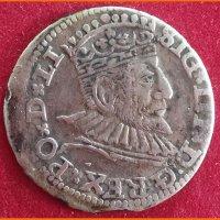 Монета 3 гроша 1592 года