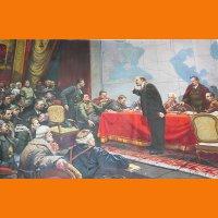 Картина В.И. Ленин у карты ГОЭЛРО Шматько Л.А. 1979 г.