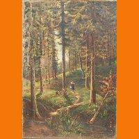"""Картина """"В сосновом лесу"""""""