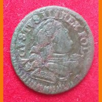Монета Шеляг Август III  1753 г.