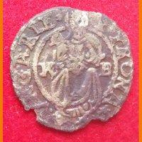 Монета Денарий Венгрия 1618 год