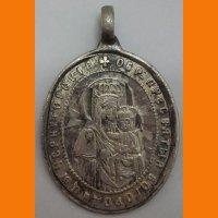 Ладанка Феодосий Черниговский Пр. Богородица серебро 84 пробы