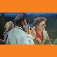 Картина Ленин с крестьянами