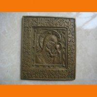 Казанская Б. М. икона медное литье с орнаментом
