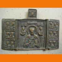 Складень Николай чудотворец с избранными святыми
