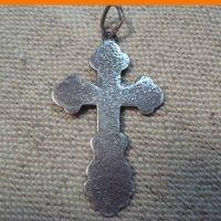 Крестик нательный серебряный 875 пробы.
