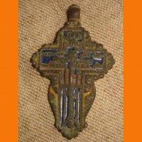 Крест козацкий в эмалях.