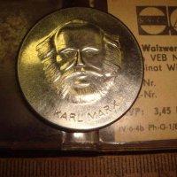 Настольная медаль ГДР Карл Маркс.
