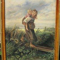 Картина «Дети, бегущие от грозы» , копия с  Маковского.