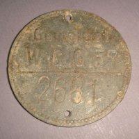 Учетная бирка для маркировки немецких захоронений