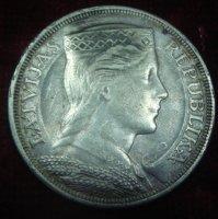 Латвия, 5 лат 1929 г