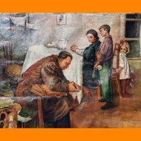 Повернувся Сцена з радянського сімейного життя