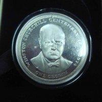 Уинстон Черчилль Монета 20 крон Теркc и Кайкос Серебро
